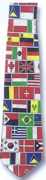 Flags Polyester Tie-0