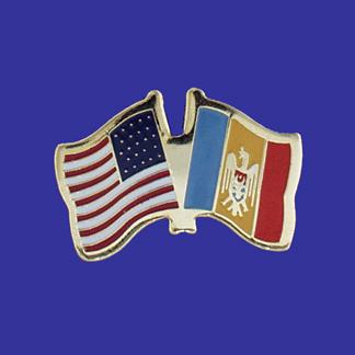 USA+Moldova Friendship Pin-0