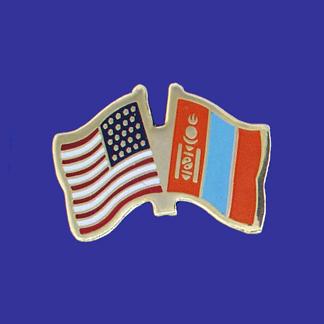 USA+Mongolia Friendship Pin-0