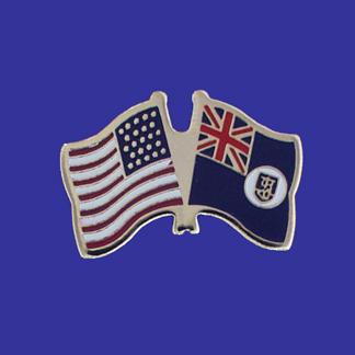 USA+Montserrat Friendship Pin-0
