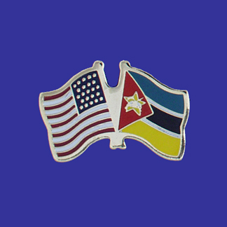 USA+Mozambique Friendship Pin-0