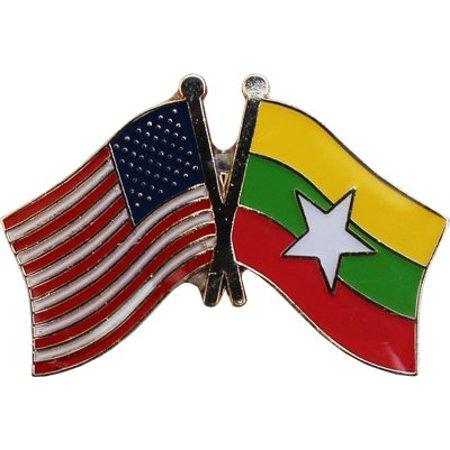 USA+Myanmar Friendship Pin-0