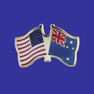 USA+New Zealand Friendship Pin-0