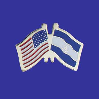 USA+Nicaragua Friendship Pin-0
