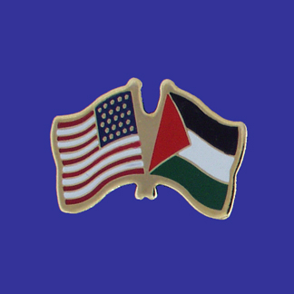 USA+Palestine Friendship Pin-0