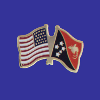 USA+Papau New Guinea Friendship Pin-0