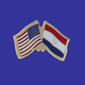 USA+Paraguay Friendship Pin-0