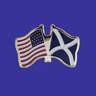 USA+Scotland (cross) Friendship Pin-0