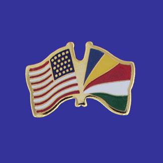 USA+Seychelles Friendship Pin-0