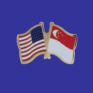 USA+Singapore Friendship Pin-0
