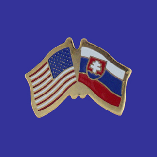 USA+Slovakia Friendship Pin-0