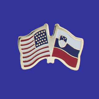 USA+Slovenia Friendship Pin-0