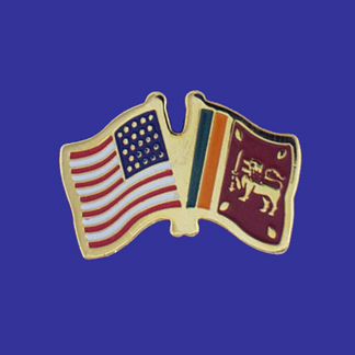 USA+Sri Lanka Friendship Pin-0