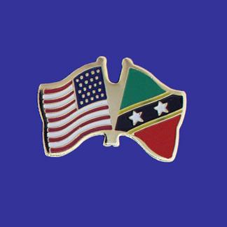 USA+St. Christopher-Nevis Friendship Pin-0