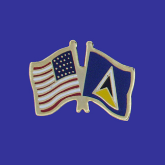 USA+St. Lucia Friendship Pin-0