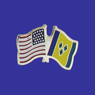 USA+St. Vincent & Grenada Friendship Pin-0