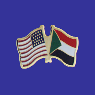 USA+Sudan Friendship Pin-0