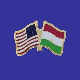 USA+Tajikistan Friendship Pin-0