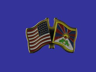 USA+Tibet Friendship Pin-0