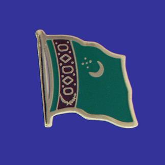 Turkmenistan Lapel Pin-0