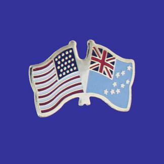 USA+Tuvalu Friendship Pin-0