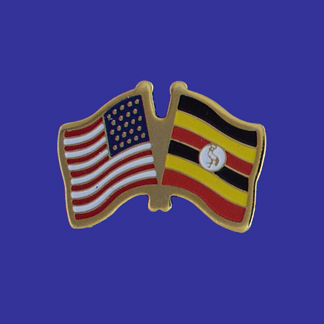 USA+Uganda Friendship Pin-0