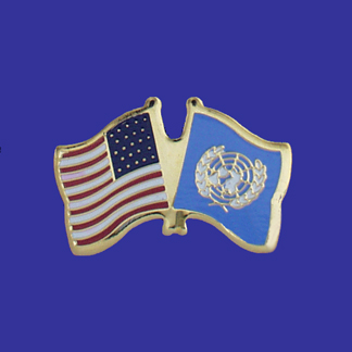 USA+United Nations Friendship Pin-0