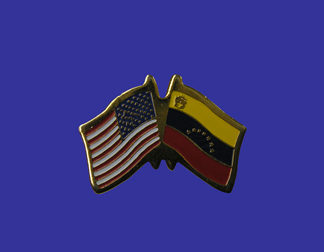 USA+Venezuela Friendship Pin-0