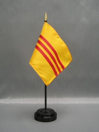 "South Viet nam (1948-75) aka Republic of Vietnam-4"" x 6"" Desk Flag-0"