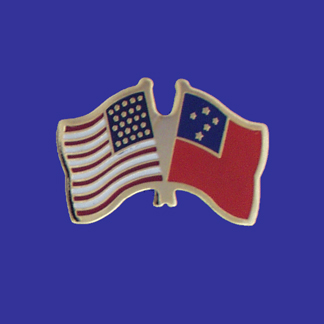 USA+Western Samoa Friendship Pin-0