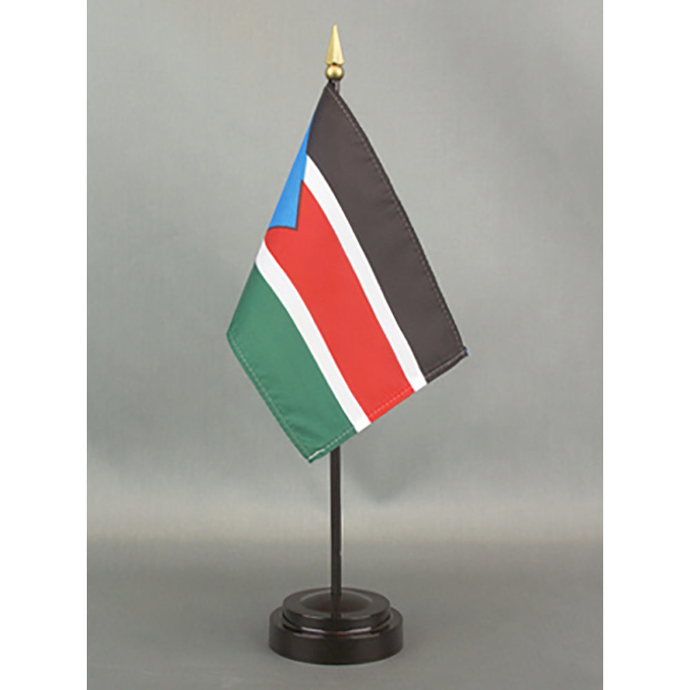 "South Sudan Flag-4"" x 6"" Desk Flag-0"