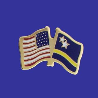 USA+Curacoa Friendship Pin-0