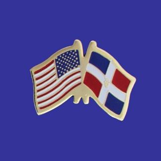 USA+Dominican Republic Friendship Pin-0