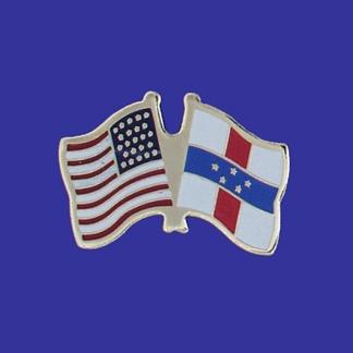 USA+Netherlands Antilles Friendship Pin-0