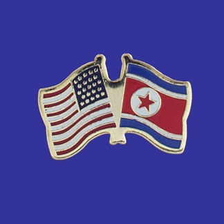 USA+North Korea Friendship Pin-0