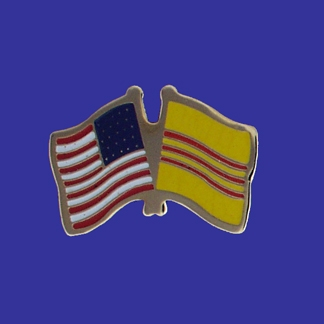 USA+South Vietnam Friendship Pin-0